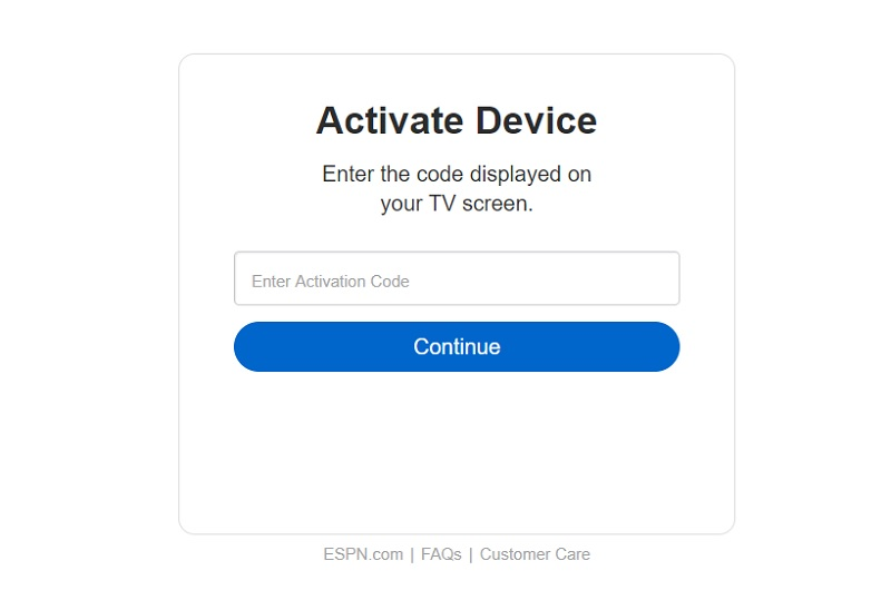 how to activate ESPN