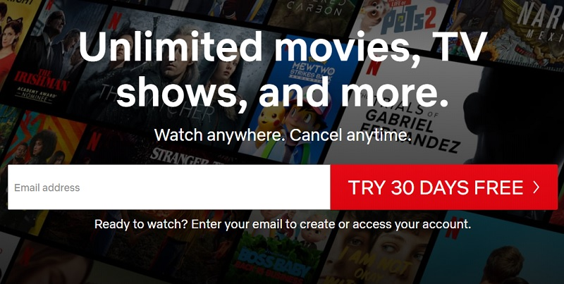 How to register for a Netflix account