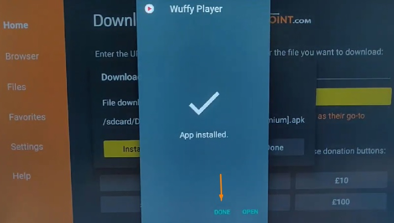 Wuffy Player app for firestick