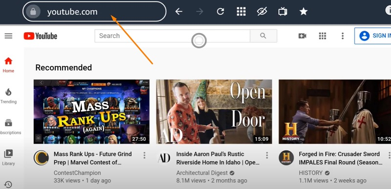 youtube with silk browser