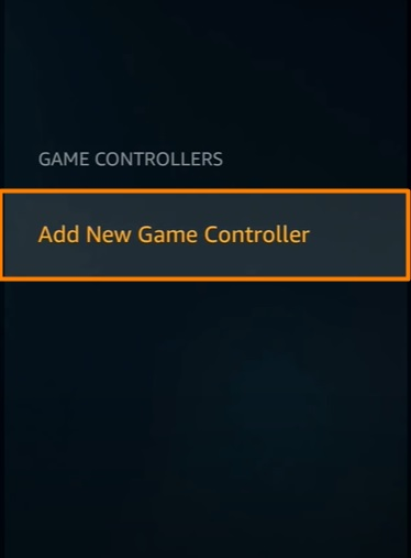 Add New Game Controller