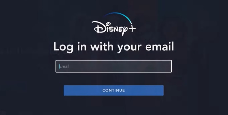 Log in to Disney+ on Firestick