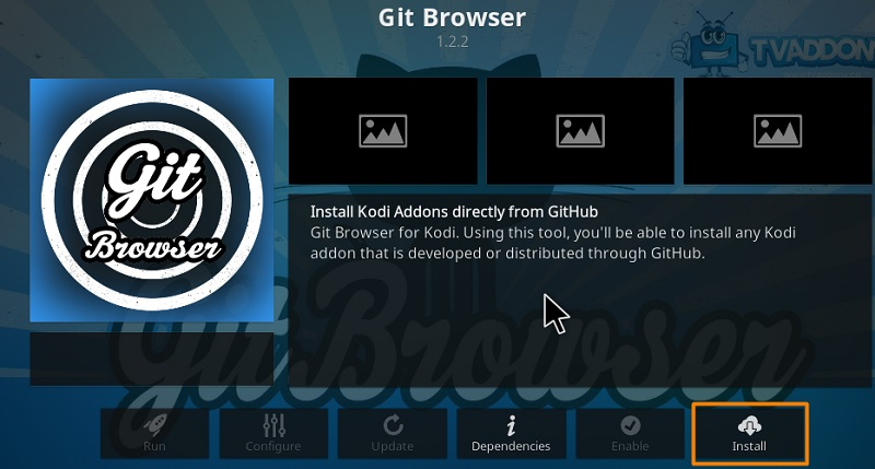 git browser on kodi