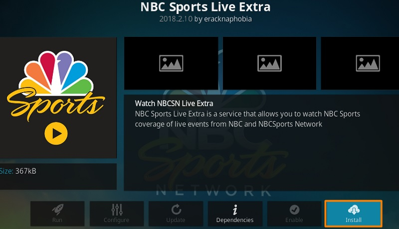 Watch NFL on Kodi with NBC Sports Live Extra