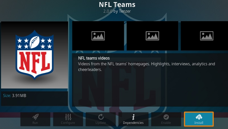 NFL Teams Add-on