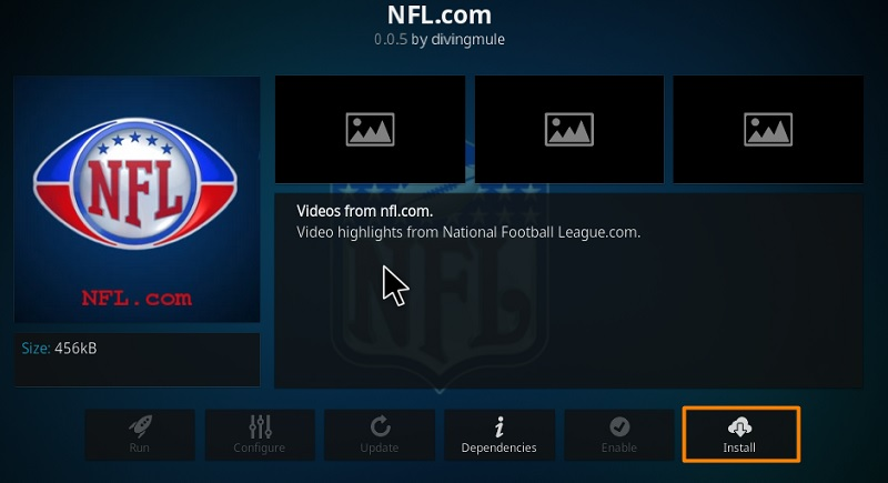 NFL.com kodi Add-on
