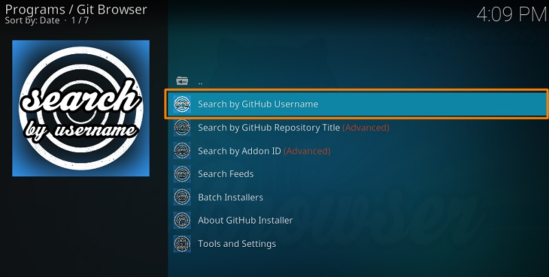 How to Use Git Browser on Kodi