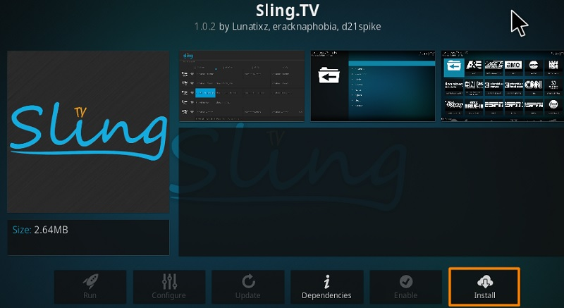 Sling.TV Add-on