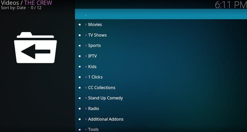 crew addon on kodi