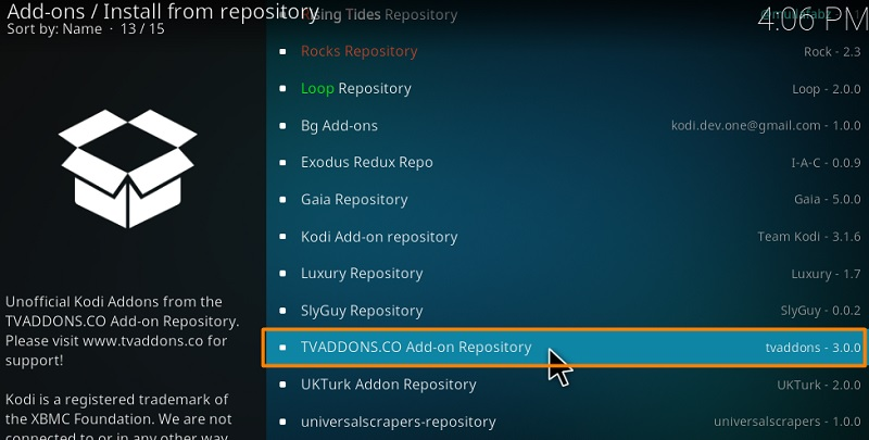 Install Git Browser from TVAddons Repository