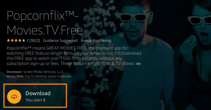 download Popcornflix on Firestick
